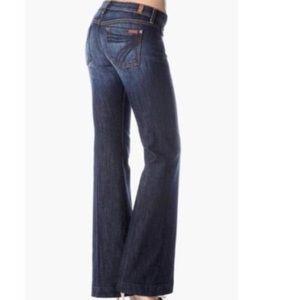 7 for All Mankind Dojo Dark Wash Boot Cut Jeans 32